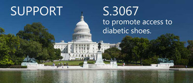 Encourage your Senator to support S. 3067 to promote access to diabetic shoes.
