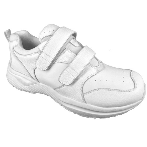 Genext by Pedors Athletic Hook and Loop White Womens Side Profile