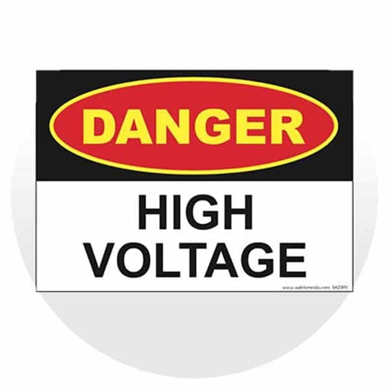 Vinyl & Plastic Danger Signs