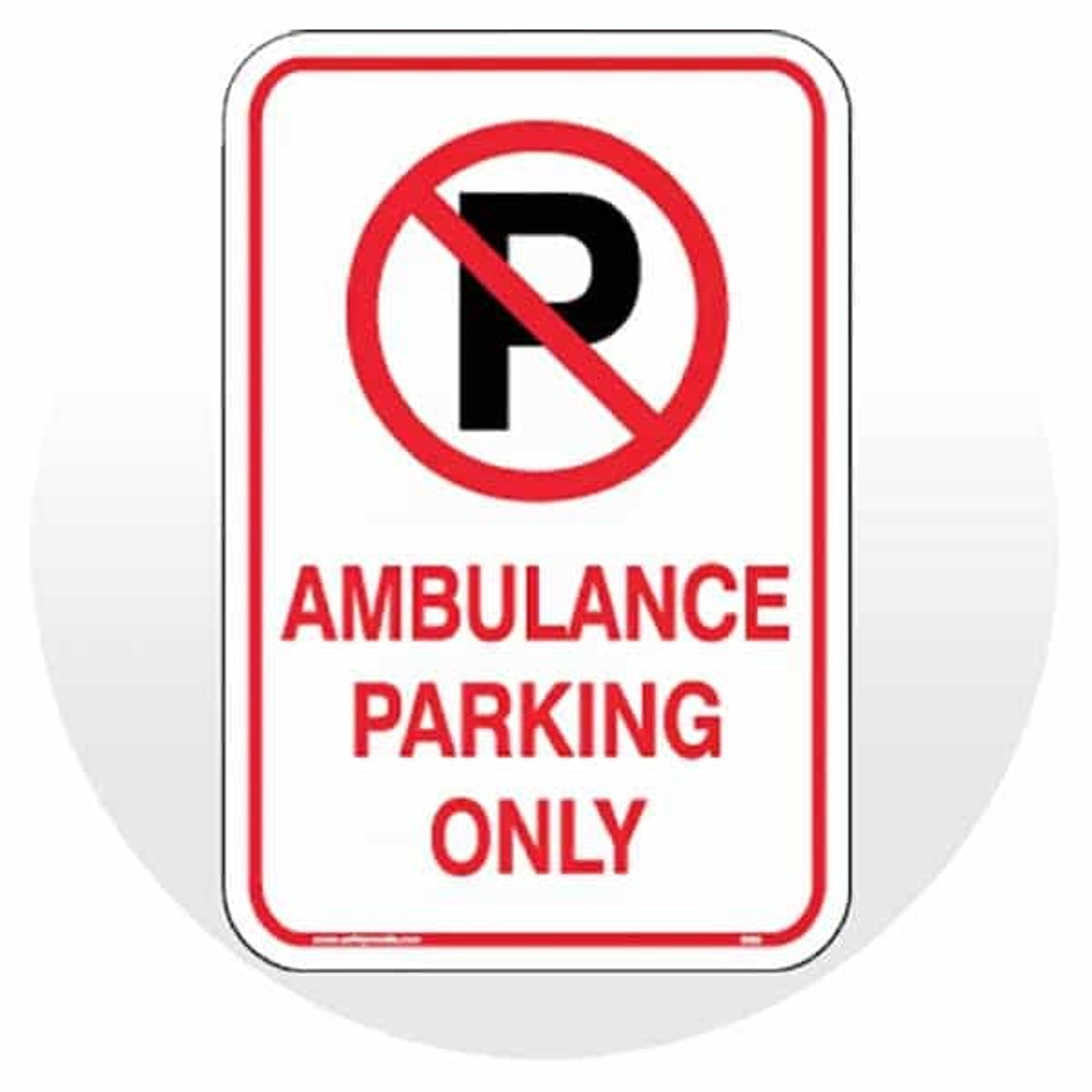 """Large Designated Parking Signs -12""""W x 18""""H"""