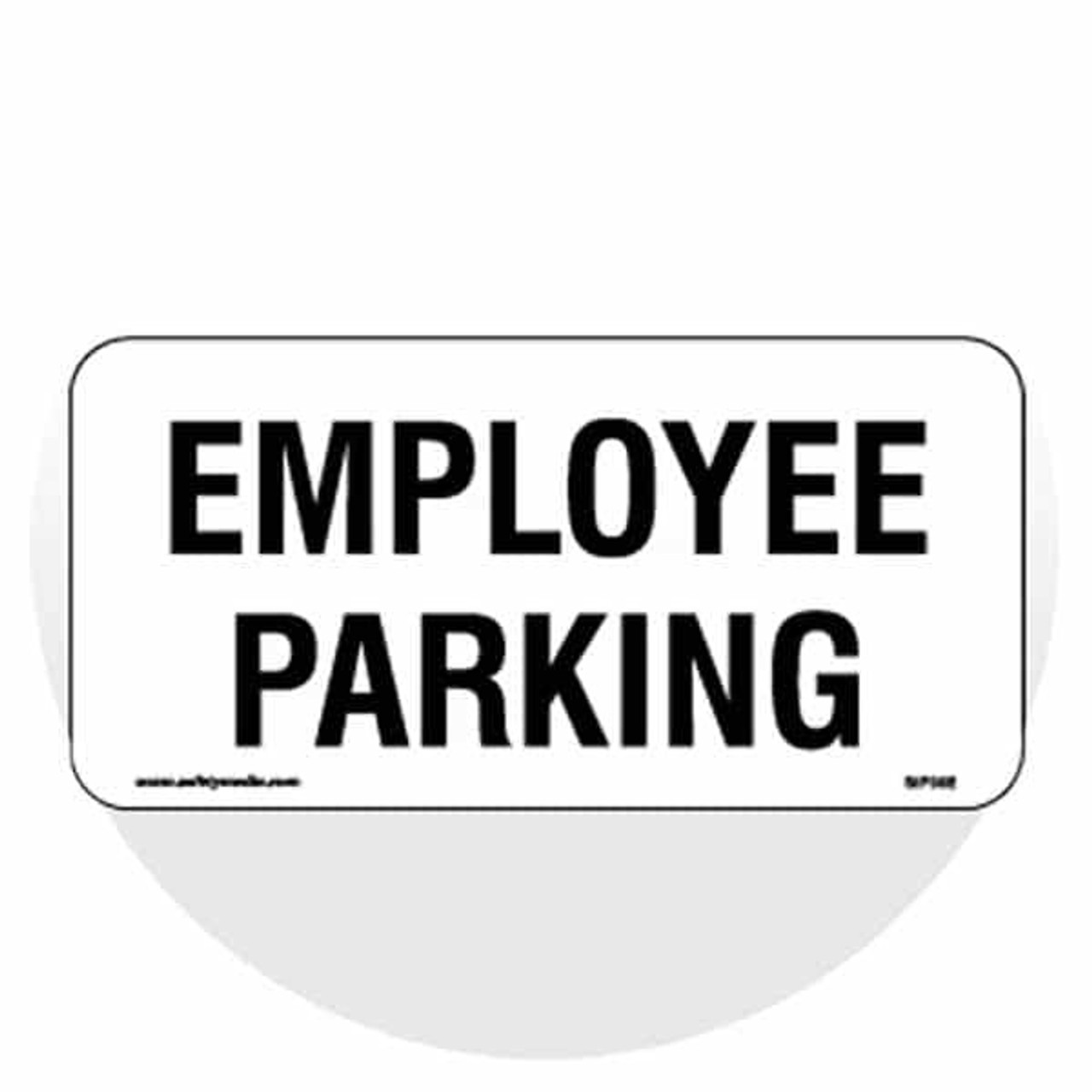 """Small Designated Parking Signs - 6"""" x 12"""""""