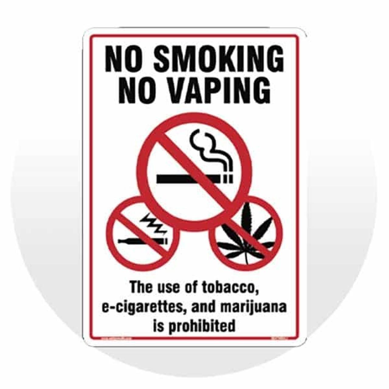 No Vaping & Marijuana Signs