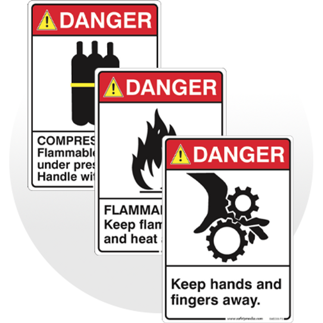 DANGER Safety Signs, ANSI