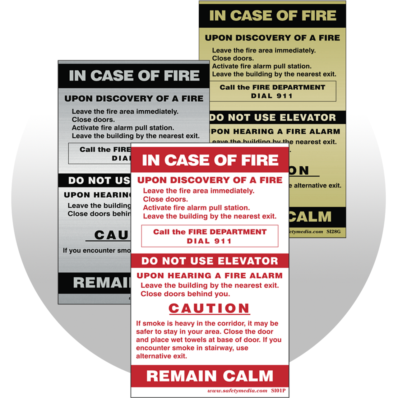 Single Stage Alarm Signs