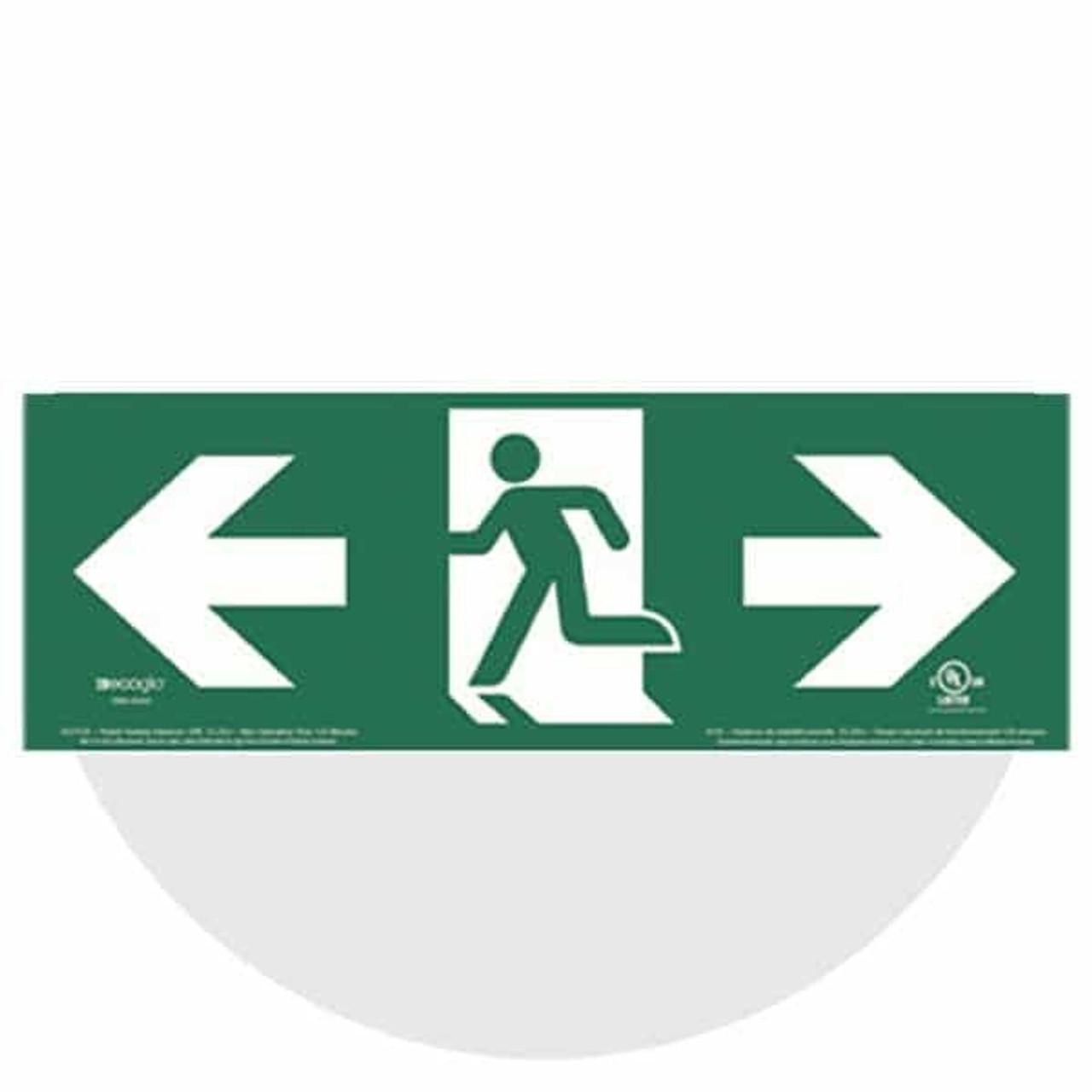 ULC Certified Photoluminescent Running Man Signs