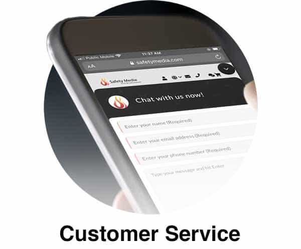 Customer Service Page link