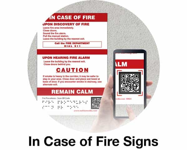 In case of fire signs article link