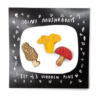 Mini Mushroom Pins