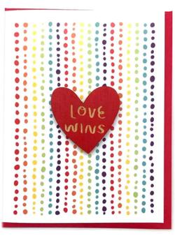 Love Wins Card + Magnet