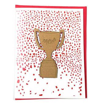 Mom Trophy card + Magnet