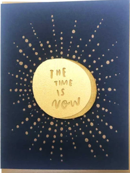 Time is Now card + magnet
