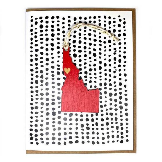 Idaho Heart Ornament Card