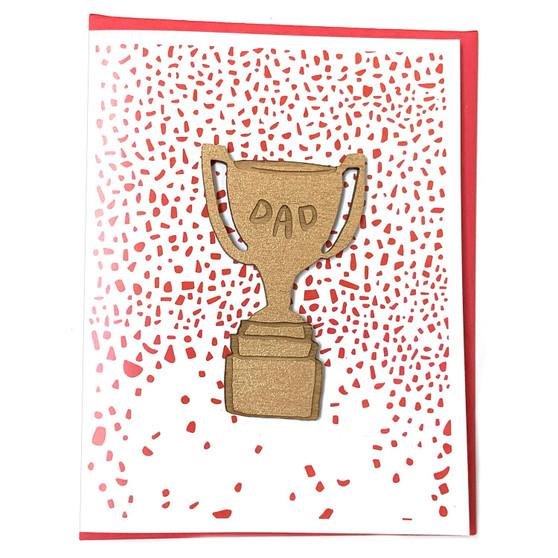 Dad Trophy Magnet + Card