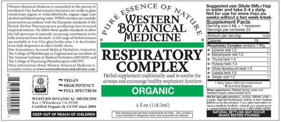 Respiratory Complex Tincture - 2 oz