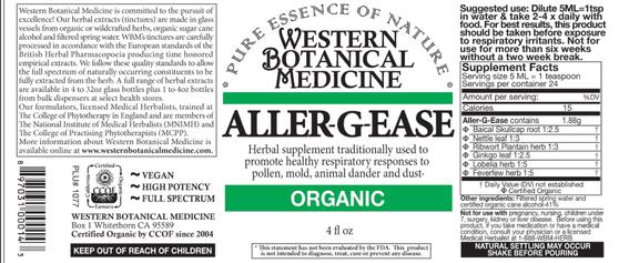 Aller-G-Ease Tincture - 2 oz