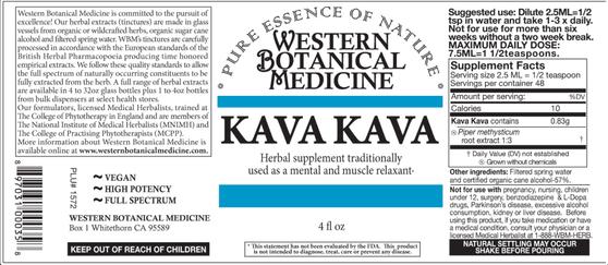 Kava Kava Tincture - 2oz