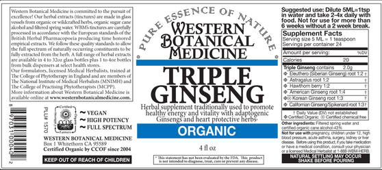 Triple Ginseng Tincture - 2oz