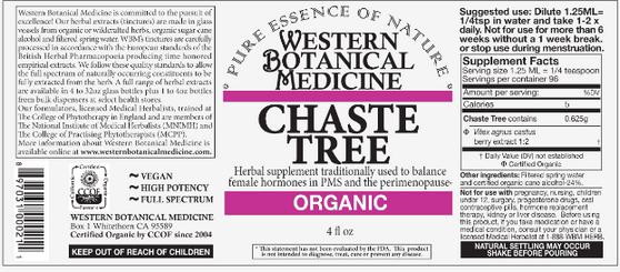 Chaste Tree (Vitex) Tincture - 2 oz