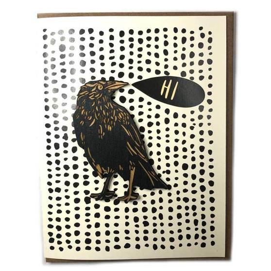 Hi Crow Card+Magnet