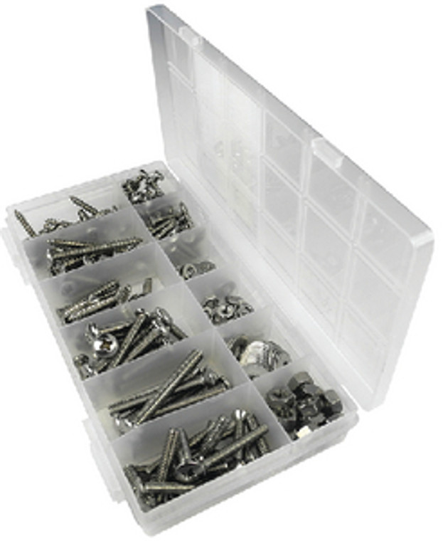 KIT 226 PC SS TAPPING & M/S TAPPING AND MACHINE SCREW KIT - 226 PIECE (SEACHOICE)