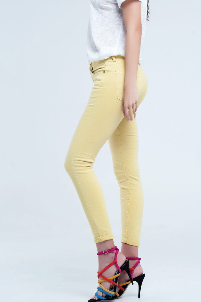 Ankle Jeans with soft wrinkles