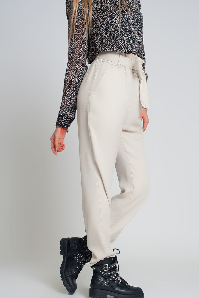 LIGHTWEIGHT TROUSERS WITH TIE WAIST