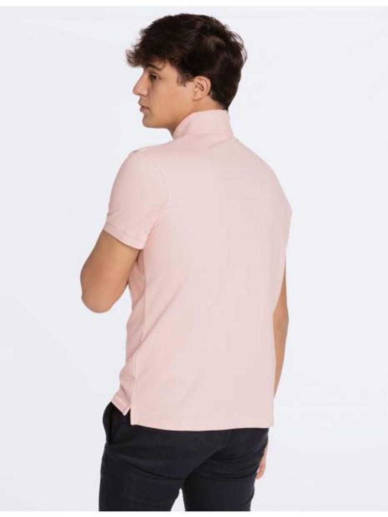 Basic Light Pink Polo Shirt