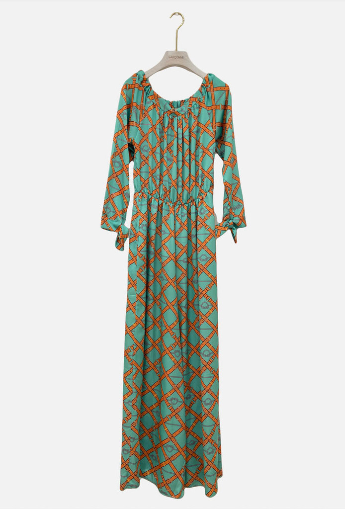BRIDLE PRINT JUMPSUIT WITH ELASTICATED WAIST
