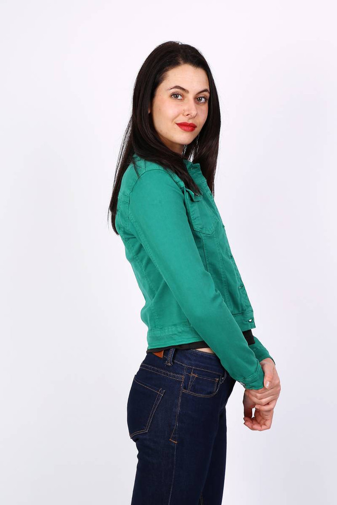 Classic Cotton Jacket in Green