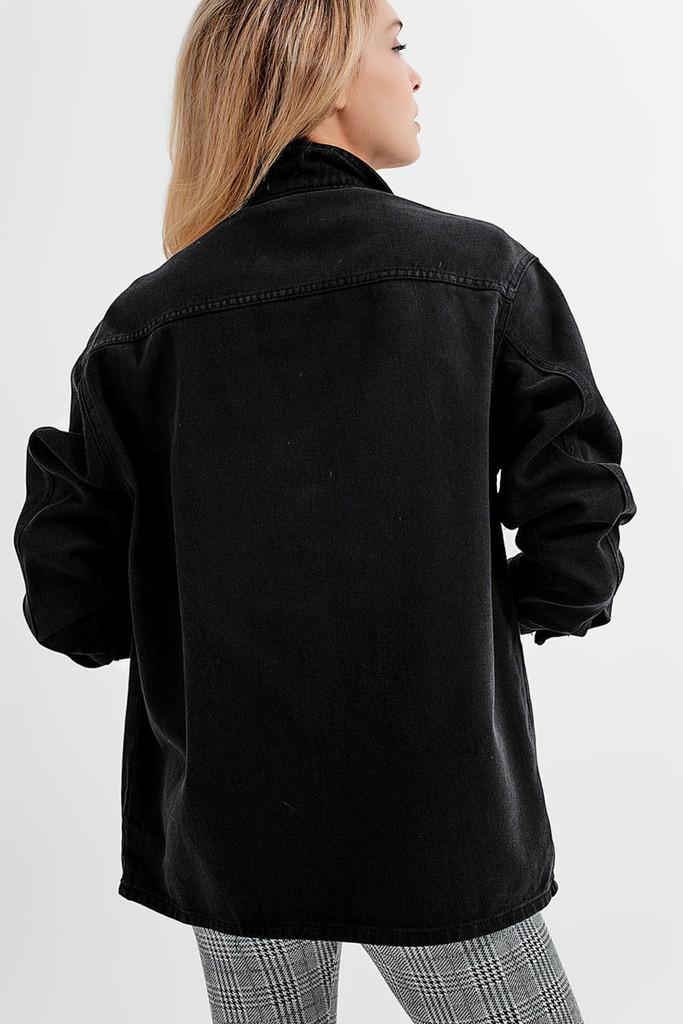 Denim Overshirt with Pockets