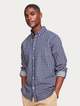 Structured cotton check shirt