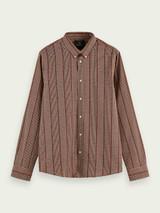 Cotton-blend yarn detail shirt