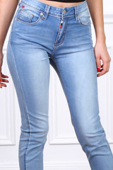 Jeans Salome with Red and White Detail