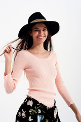 Knitted Wide Neck Sweater