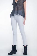 High Waist Super Skinny White Trousers