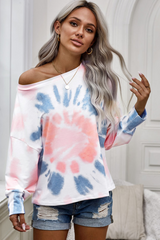 Tie Dye T-Shirt with Long Sleeves