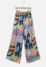 Multi Colour Trousers with Cartoon Print