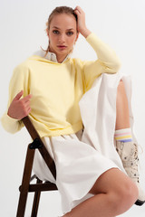 Long Sleeve Hooded Sweater in Yellow
