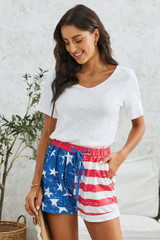 American Flag Shorts with Pockets