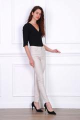 Slim Stretch High Waist Trousers