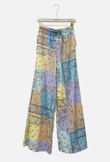 Patchwork Print Palazzo Trousers