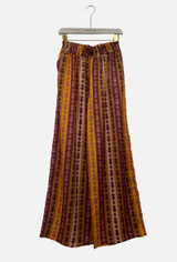 Palazzo Trousers with Striped Pattern