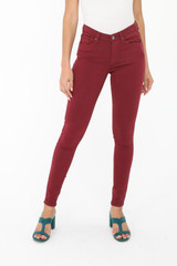Wine Coloured Jeans