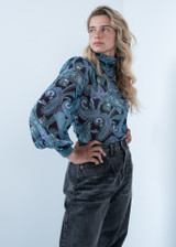 Paisley Printed Blouse with Back Closure