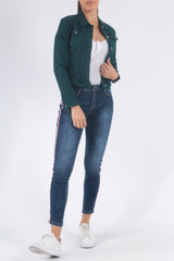 Classic Cotton Jacket in Teal