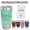 20oz Grande Steel Mug and 1 Bag of Coffee Combo