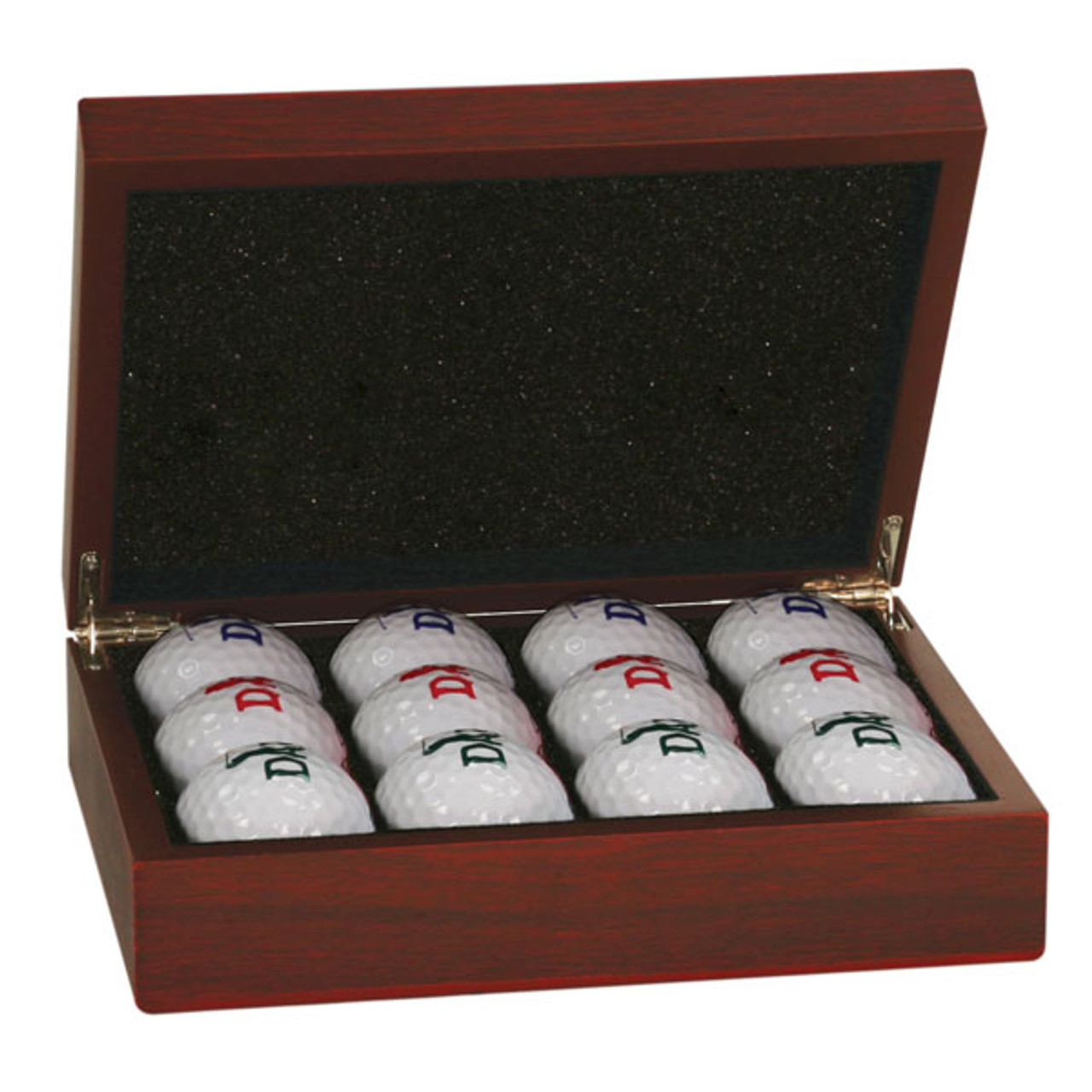 Rosewood Finish Golf Ball Box (balls not included)