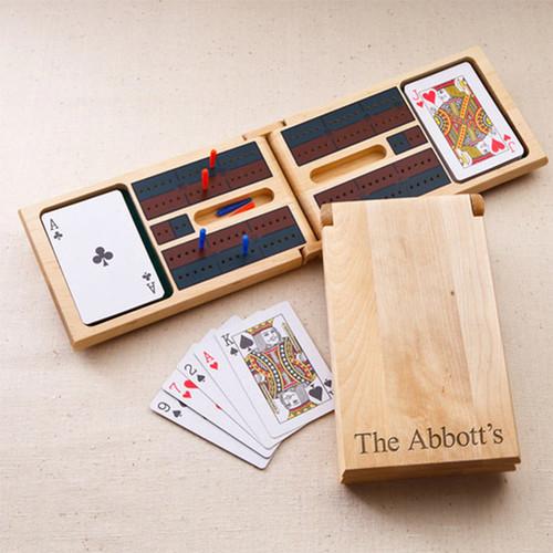 Wood Cribbage Game Gift Set