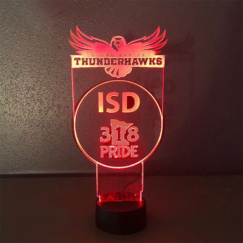 6 x 12 LED Light Up Sign with Multicolor Function