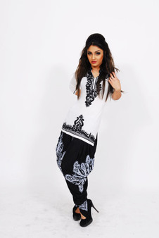 Jersey Kurti 1:  White with Black